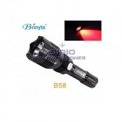 LINTERNA ROJA BRINYTE B58 LED CREE XP-E N4, 145...