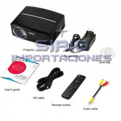 PROYECTOR DE VIDEOS MULTIMEDIA, MODELO GP80-UP