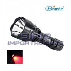 LINTERNA BRINYTE B88 LUZ ROJA LED CREE XP-E N4,...